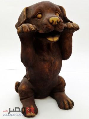 تمثال على شكل كلب